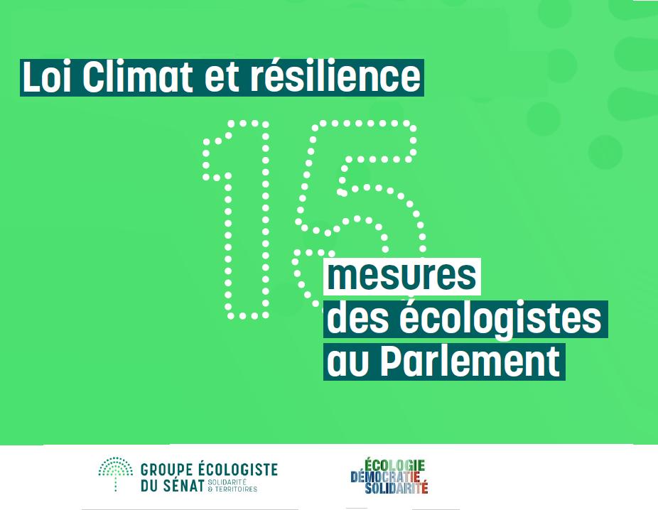 Propositions pour la Loi Climat